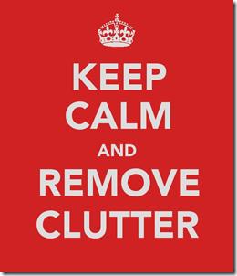 Keep Calm Clutter