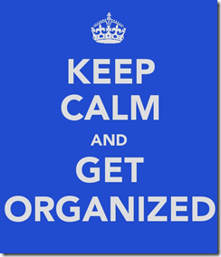 Keep Calm Organize