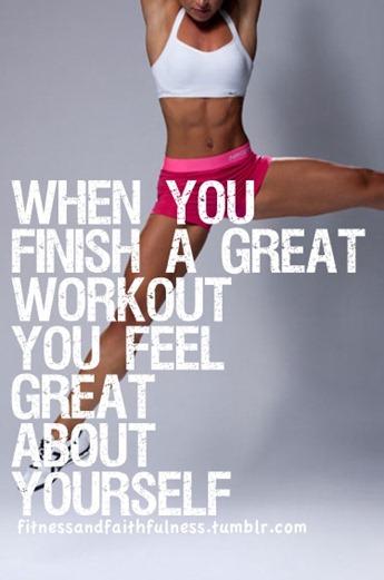 Finish a workout