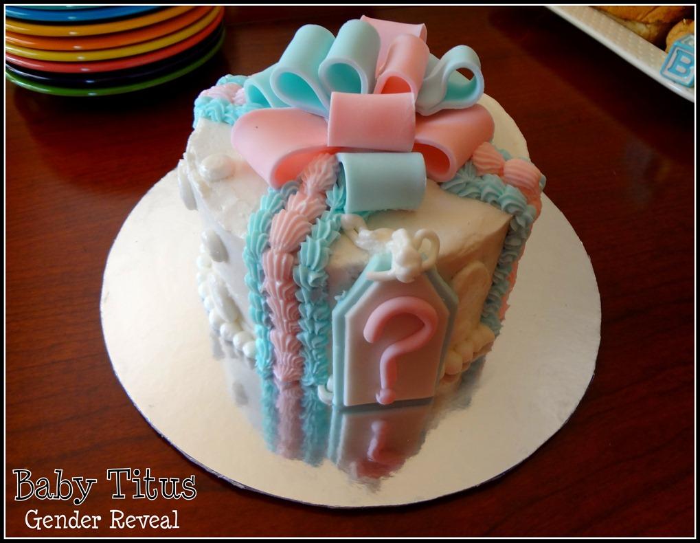 Gender Reveal Cake